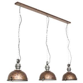 Metalen hanglamp Bikkel bruin-7980B