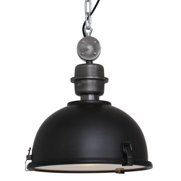 Metalen hanglamp Bikkel zwart-7978ZW