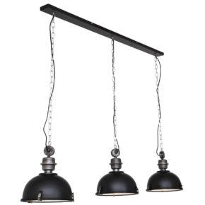 Metalen hanglamp Bikkel zwart-7980ZW