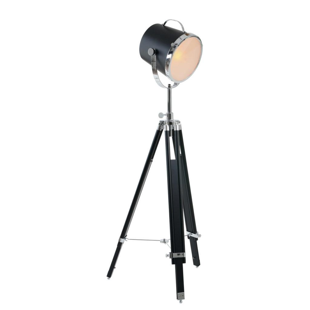 Metalen vloerlamp Triangle zwart-7613ZW