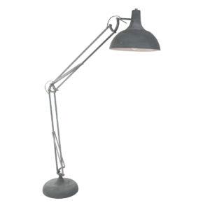 Metalen vloerlamp XXL Office grijs-7633GR