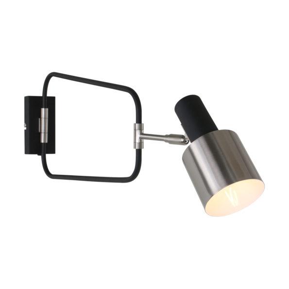 Metalen wandlamp Fjordgard zwart-1699ZW