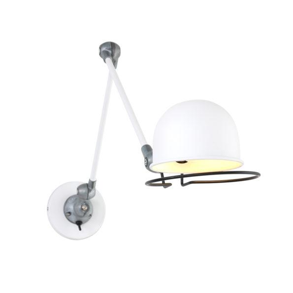 Metalen wandlamp Jikke wit-7656W