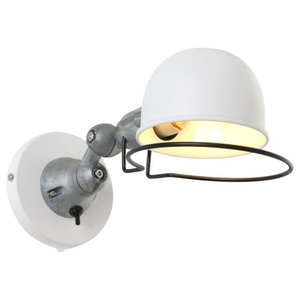 Metalen wandlamp Jikke wit-7657W