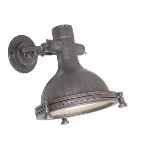 Metalen wandlamp Noba bruin-7967B